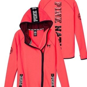Pink Victoria secret side zip up hoodie